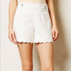 NWT Anthro Cartonnier Scalloped Sailor Shorts